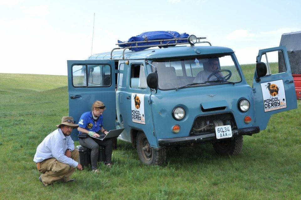 Katy Willings Mongol Derby Mobile Headquarters