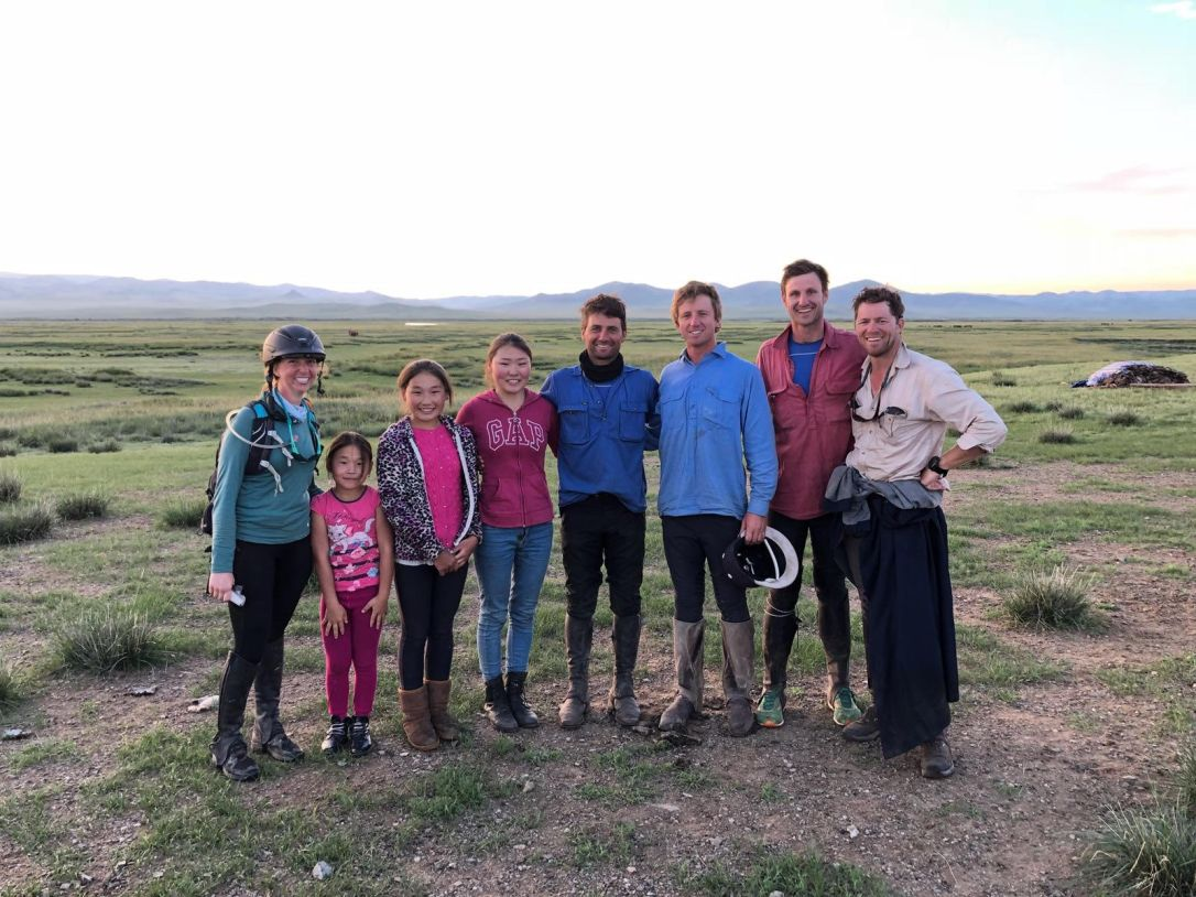 Mongol Derby Family we stayed with Day 3