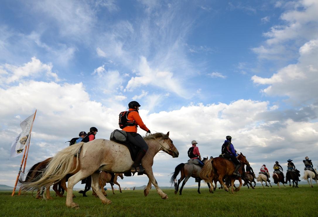 Mongol Derby Starting Line:Bill.jpg